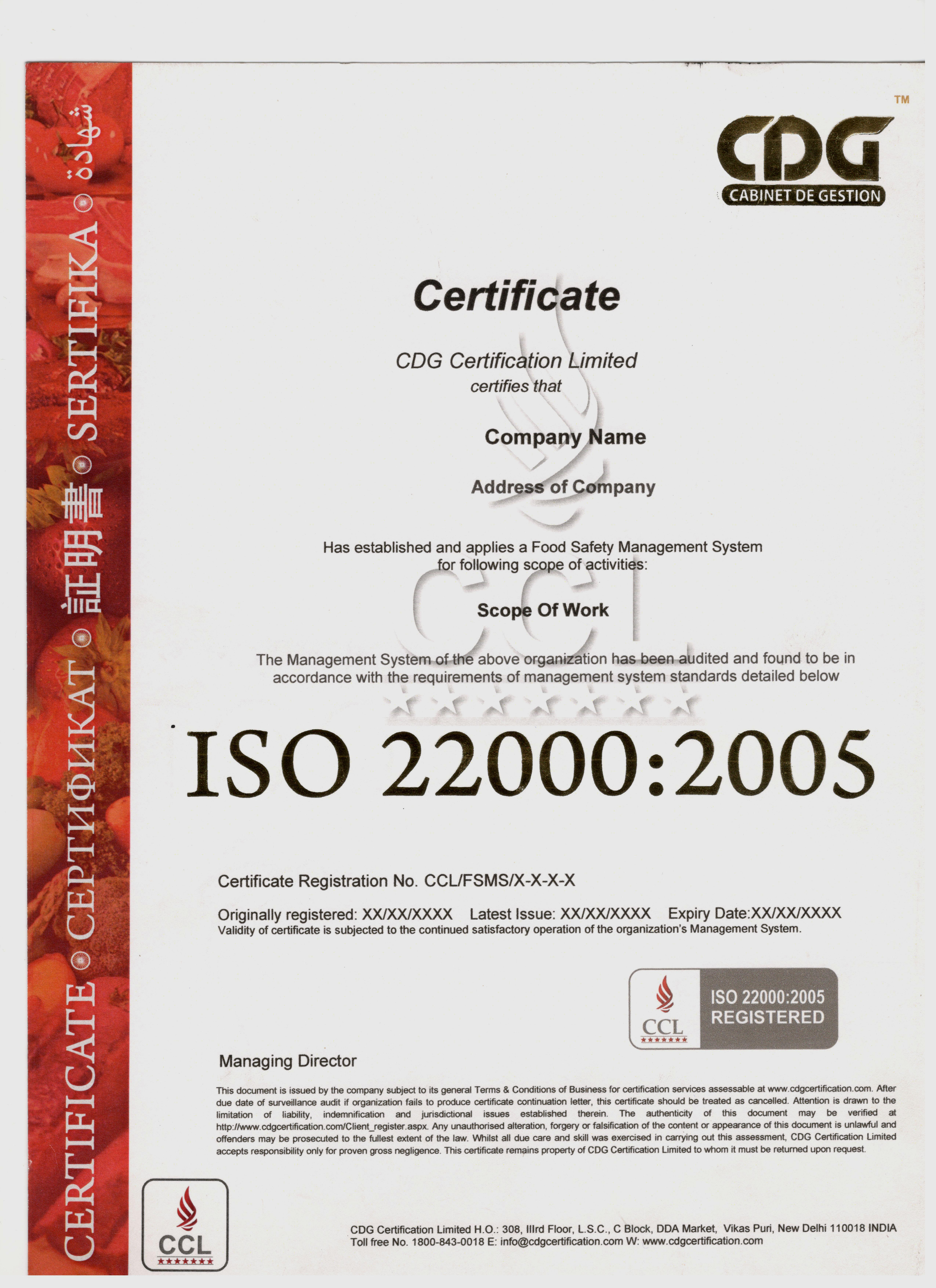 Sample iso 220002005 certificate yelopaper Image collections